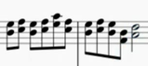 ピアノでこのような弾き方(名称がわかりません)がとても苦手なのですがコツはありませんか? 対応する指が動かず頭がこんがらがってしまいます (画像は「戦場のメリークリスマス」の一部です)