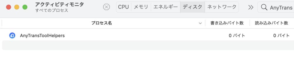 Macのアクティビティモニタに削除したはずのアプリのAnyTransToolHelpersとかいうものがずっと動いているのですが何かこれを削除する方法はありません か?