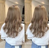 このようなミルクティーベージュの色落ちはどのような金髪になりますか?? また完全に落ちきった色は、入れる色によってかわってくるのでしょうか?それともどの色を入れても色落ちは最終的に同じですか?
