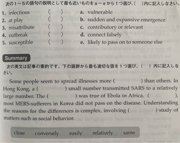 英語が得意な方に質問です。この問題を解いてほしいです。