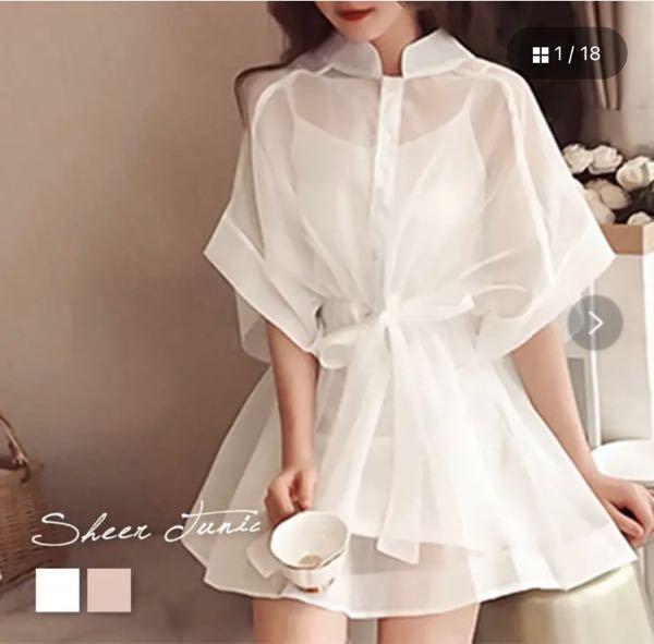 この服すっごい可愛くて買いたいんですけど、中の下着はどうしたらいいでしょうか?どうしても下着の肩紐とか見えてしまいますよね? インナーキャミソールもセットでついてきます。 透ける服は初挑戦なのでファッションに詳しい方教えてください!