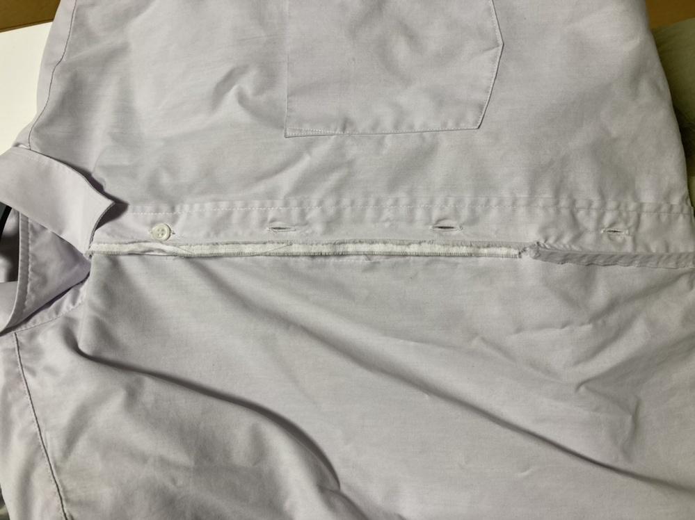 ミシンが使えない人です。 こういう状況になったワイシャツの簡単な直し方がありますか?