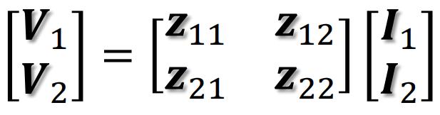 電気回路の問題について質問です。Z行列が下記のように表され、Zパラメータが与えられたとする。 この時にYパラメータおよびFパラメータを求めよ。 と言う問題がよく分かりません。 回答お願いします。