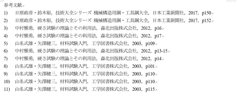 レポートの参考文献について 参考文献欄が添付写真のように,同じ本が連続しているのですが,この表記でいいのでしょうか?省略した方がいい場合は,どのように省略するか教えてください.お願いします.