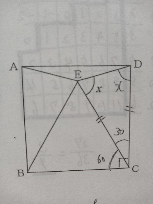数学の問題です。 △CDEはなぜ二等辺三角形と分かるのですか?