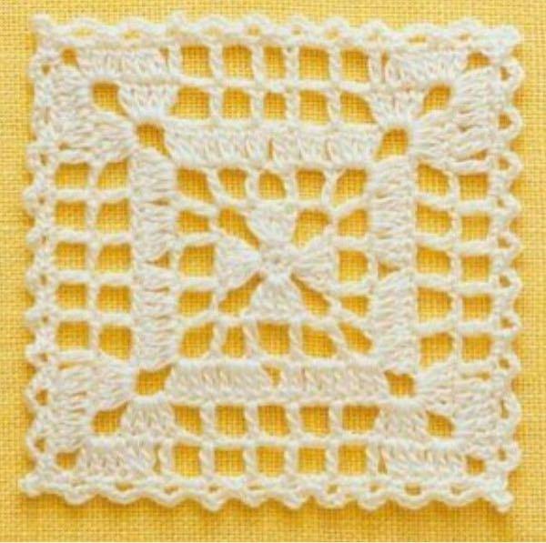 鍵編みモチーフ編みについて質問です。 鍵編みでモチーフを編んでつなげて子供用のキャミソールワンピを作りたいと思ったのでネットで気に入ったモチーフを見つけたのですが、編み図がどこにもなく、どなたか...