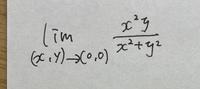 2変数の極限の問題です。解き方と答えを教えてください