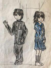 中学2年の頃描いた絵です。この絵でも中2としては上手いのでしょうか?