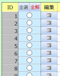 ACCESSの帳票フォームで添付のようにチェックボックスとコマンドボタンがございます。 チェックボックスがTRUEの時のみコマンドボタンを使用可能にすることはできたのですが、帳票フォームという事でチェックをしたレコードの編集ボタンのみ使用可能にしたいのですがどのようにすればよいでしょうか? Private Sub CHECK_AfterUpdate() If Me.CHECK = True Then Me.編集コマンド.Enabled = True Else Me.編集コマンド.Enabled = False End If End Sub