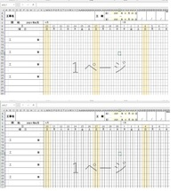 """条件付き書式設定の質問です。 年、月、日を入れると日付と曜日が表示される表を作成してます。 ただ日付けのセルが結合になっていて条件付き書式設定を入れると列全体に適応されてしまいます。 結合しているセルの月初(1日)に罫線をひきたいのですが、良い方法はありますでしょうか? 宜しくお願いします。  日曜の色付けの式 =COUNTIF(J$9:L$9,""""日"""") 1日の左罫線の式..."""