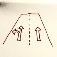 自動車学校に通ってます。車は通常左側通行で、追い抜きは追い越しの場合は右に移る、または進行方向別の場合は移る、のだと思いますが、路上で以下のような道路では、みんな右に移って直進します。 でも左も直進ありなのだし、別に良いのでは?と思ってしまいます。 どうして左車線の標示は左折のみ可にしてないのでしょうか?