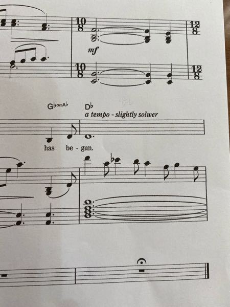 キャッツのメモリーの楽譜の終わりにこのような速度指示があるのですが、solwerという単語はあるんでしょうか? slower の印刷ミスでしょうか?