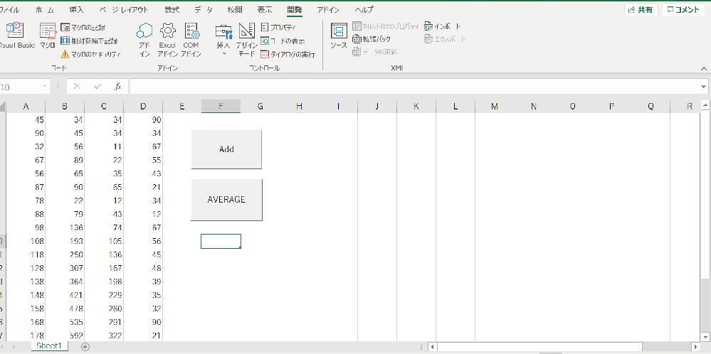 "ExcelのVBAを独学で勉強しているのですが、分からない部分があります。 画像のA列~D列の値を""列毎""にそれぞれ昇順に並べ替え、その結果をH列~K列に出力させたいのですが、どうすれば良いでしょうか。宜しくお願い致します。 Sub Buble_Sort() Dim i As Long Dim j As Long Dim Buble() As Double Dim inData() As Double Dim End_Row As Long Dim End_Col As Long Dim k As Long Dim l As Long Dim tmp As Long '最終列の取得 End_Col = Worksheets(""sheet1"").Cells(1, Columns.Count).End(xlToLeft).Column '最終行の取得 End_Row = Worksheets(""sheet1"").Cells(Rows.Count, 1).End(xlUp).Row '配列の大きさの指定 ReDim Buble(End_Col - 1) ReDim inData(End_Row - 1) '列(横方向) For i = 0 To End_Col - 1 '行(縦方向) For j = 0 To End_Row - 1 '配列にデータを格納 inData(j) = Worksheets(""sheet1"").Cells(1, 1).Offset(j, i) 'MsgBox inData(j) Next j Next i 'バブルソート For k = LBound(inData, 1) To UBound(inData, 1) For l = k + 1 To UBound(inData, 1) '並び替え If inData(k) > inData(l) Then tmp = inData(k) inData(k) = inData(l) inData(l) = inData(k) End If Next l Next k End Sub"