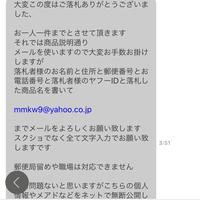 ヤフオクでポケモンカード落札したのですが、このようなメッセージが届きました。商品説明にもいたずら防止のため別のメールを使用するとありましたが、これはメールを送っても大丈夫なのでしょうか?