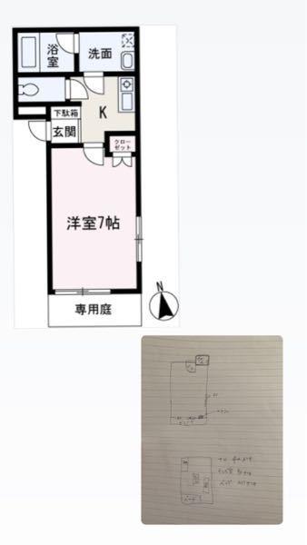 1K7畳の部屋のレイアウトを考えてます。 Instagramのようなオシャレな部屋にしたいと考えています。部屋の作りは木目調で家具等小物は白、グレー、ゴールドで揃えています。 どーゆう配置にすれ...