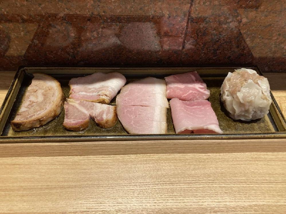 ラーメン屋で、TOKYO X豚肉100%の自家製チャーシュー5種盛合せ/肉焼売で税込1000円。高いですか?