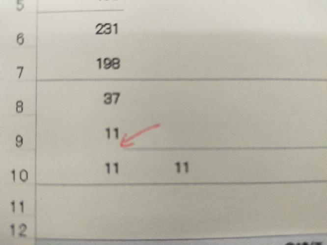 写真の赤の矢印の線を周りと同じ色で線を引きたい。エクセル おしえていただけないでしょうか? Aの7のセルの書式コピーをしてもうまく行きません