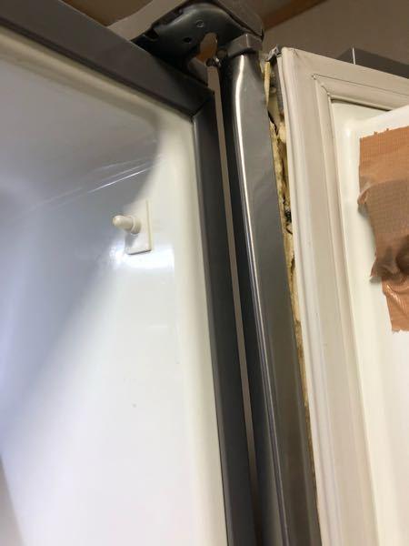冷蔵庫の扉が壊れて閉まりが悪いのですが応急処置や直す方法があれば教えてください。