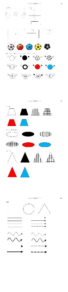 サッカーのトレーニングメニューをWordで作成したいんですけど、下の表などはどうやって作りますか?(四角や人のイラストです!)