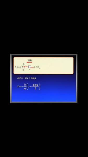 摩擦力がある単振動の問題です。 右向きを正と考えるX軸を用います。 この時、自然長からの長さをXとする。立式をすると ma=-kx +umg (uは動摩擦係数)ってなるんですけど、これは運動が左向きの時はそうだと思うんですけど、単振動なので運動は左右に振幅します。その時に右向きに運動するタイミングがあります。その時摩擦力はマイナスになると思います。なのでこの式は成り立たない状況ができると僕は思ってるんですけど、僕が考えている所に矛盾があると思うんですけど、どこの考え方が間違えていますか、よろしくお願いします。