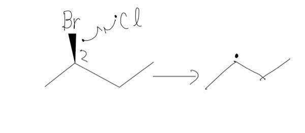 大学化学 ラジカルハロゲン化 すでにハロゲンがひとつ付いているアルカンに対してラジカルハロゲン化する問題で、既に付いているハロゲンが引き抜かれるような反応(写真あり)は起こり得ないでしょうか。 どの問題を見ても別の水素の引き抜きが起こることしか考えていませんが。
