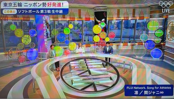 こちらはフジテレビのオリンピック番組の写真なのですが真ん中のオレンジ色の髪をした女性の名前わかりますか?