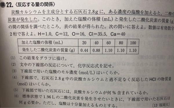 (3)の問題で何故50mℓの値を使うのですか
