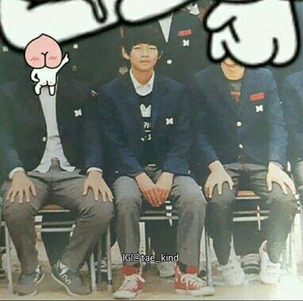 これはテテが中学生の時の写真ですか? #BTS#キムテヒョン#V#防弾少年団