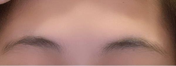 この形の眉毛でも平行になりますか?