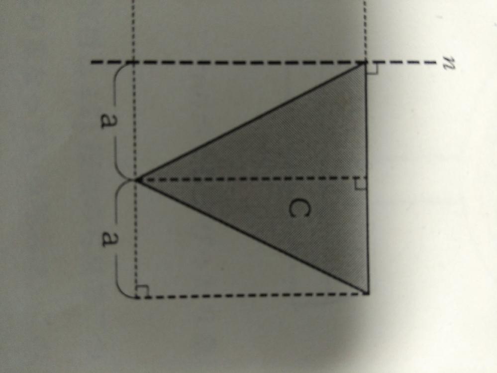 nを軸として1回転させたときの体積の計算を教えてください。