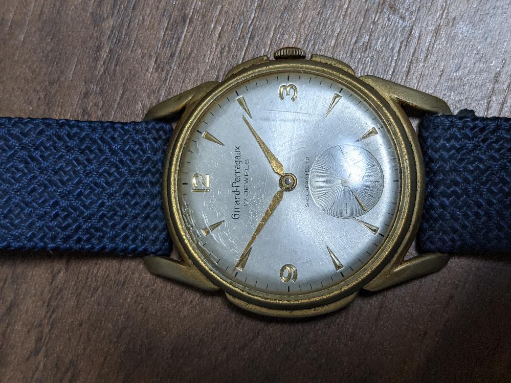 ジラールペルゴのアンティークウォッチを購入しました。この時計は本物でしょうか?ケースのサイズは約34mmです。