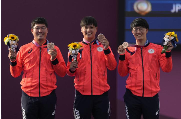東京オリンピックのアーチェリー団体で銅メダルを獲得しました・・・ 動きの中で瞬間的にお笑い芸人に似ていましたどう思います?・・・・ (画像だと伝わり難いですが左の古川さんから) ダイエットしたマジカルラブリー村上、ニューヨークの屋敷、三四郎の小宮