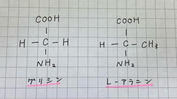 これはなぜ、グリシンとL-アラニンなのでしょうか。 L-グリシンとはならないのですか?
