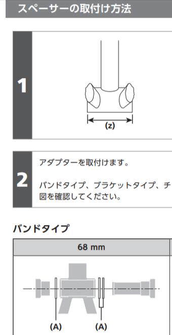 シマノ ボトムブラケット(BB-MT800)のスペーサー取り付けについて マニュアルの図でスペーサー2枚の方がチェーンホイール側で良いのでしょうか?