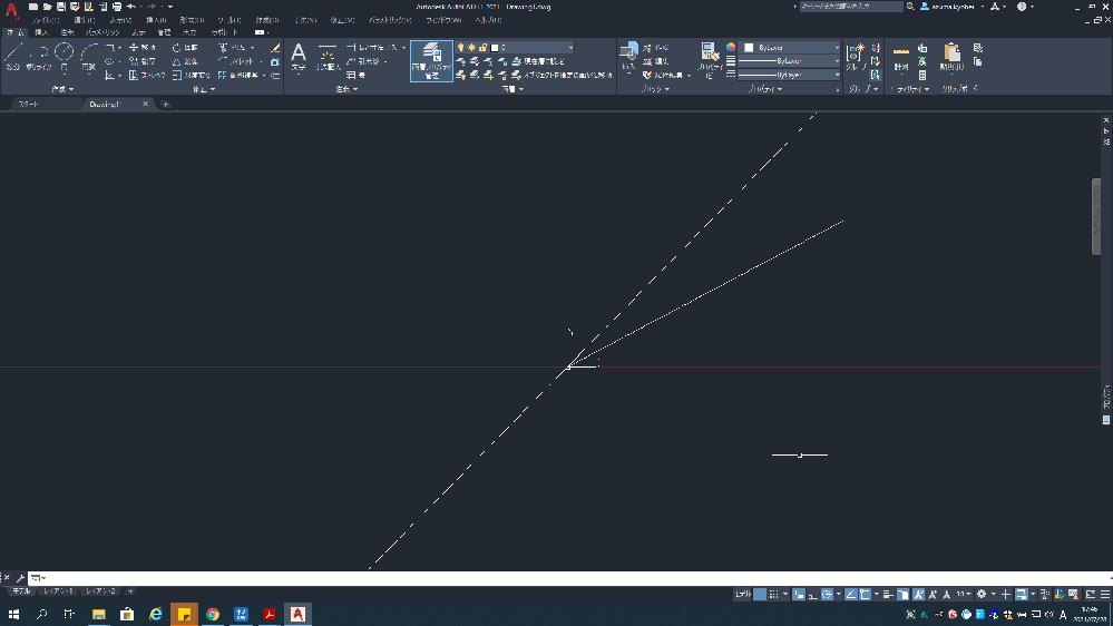 Auto CAD LTで原点でないところに線分を引きたいのですが、写真のように原点からしか線を引くことができません。対処法を教えてください。 ちなみにこの現象は図面を新規作成するときに起きてしまいます。 製図が進んでいるオブジェクトに加筆するときはなんの問題もないのですが…