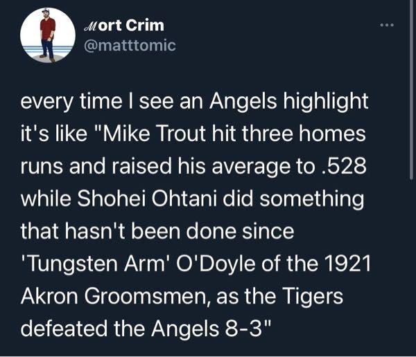 MLB公式ツイッターで 大谷翔平のホームラン速報のリプ欄にこの写真が沢山貼られていて、いいねを沢山もらってました 訳がよくわからないのでどういう意味なのか教えてください