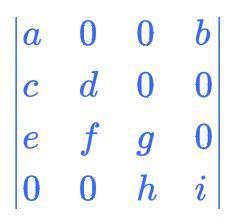 この行列式をサラスの方法で解いたら答えって何になりますか?