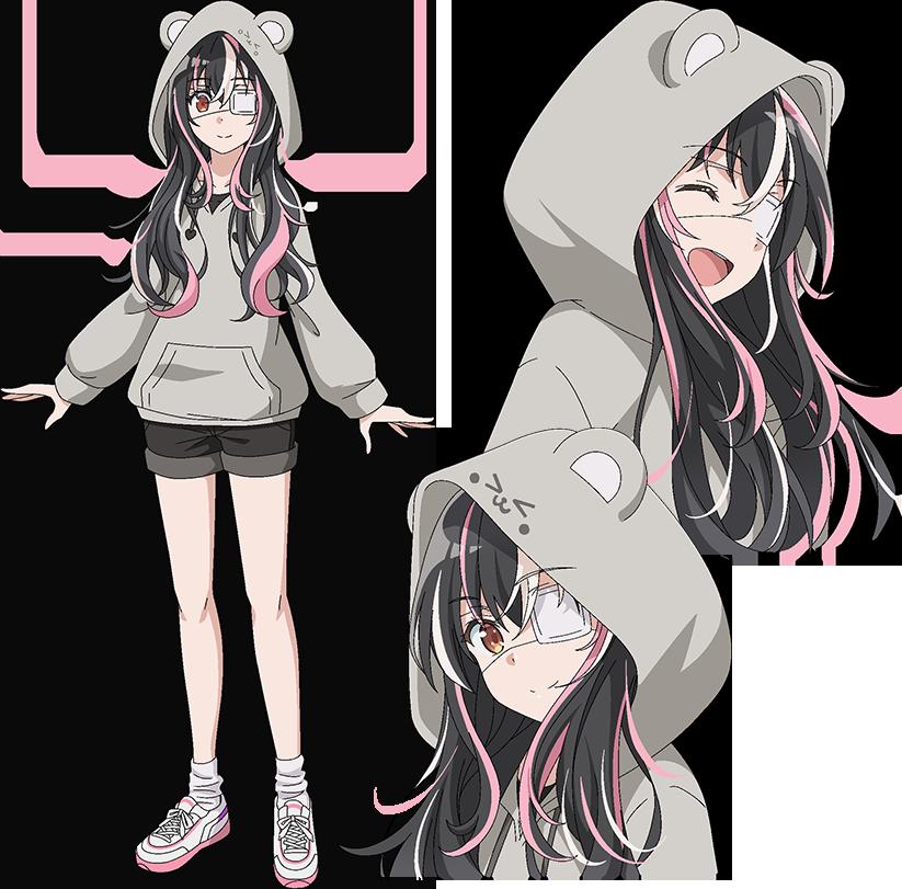 今期アニメの「探偵はもう、死んでいる」に関する質問です。 今期のアニメの「探偵はもう、死んでいる」の登場キャラの斎川唯ちゃんが髪を結んでいない公式絵を探しているのですが、自力では公式絵は初登場時のフードを被ったものしか見付けられませんでした。 公式絵で髪を結んでいない絵が、どこかに無いでしょうか?