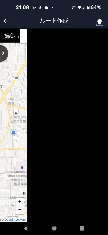 bryton750本体不具合なさそうですが、スマートフォンの方で、brytonアプリ内の、地図作成こんな事になってます。不具合でしょうか?わかる方、おられますか?