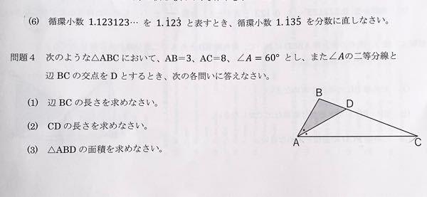 高校1年生です! (6)と問4の(1)~(3)の問題を教えて頂きたいです。 途中式もいただけると嬉しいです