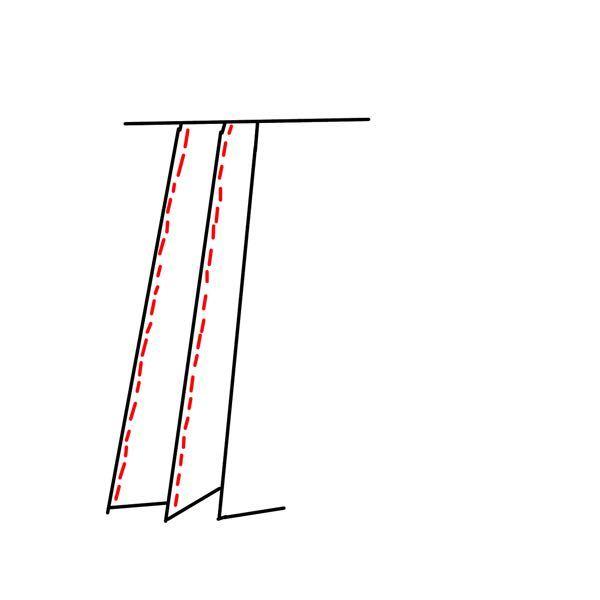 至急お願いします!!! 弓道部の高校1年生です。今度、初めての試合があるのですが、それまでに袴の襞を縫っておきたいんです。 縫い方を調べても調べ方が悪いのか詳しく出てこなくて、不安なので質問させていただきます。 ①縫い方は、写真のように袴の表の襞だけを縫えばいいのでしょうか?(拙いイラストですみません) ②糸は黒でいいんでしょうか? ③縫う場所は写真のところだけでいいんでしょうか? ④ミシンで縫っても大丈夫でしょうか? ⑤縫う前、縫った後に何かやることはありますか? 他にも重要なこと、必要なことがあったら是非教えてください。お願いします!!!