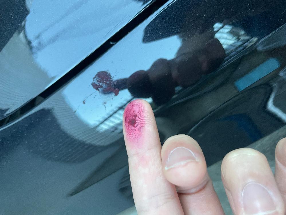走行後に車に数カ所このような汚れがありました。匂いはしないのですが、何の汚れでしょうか….