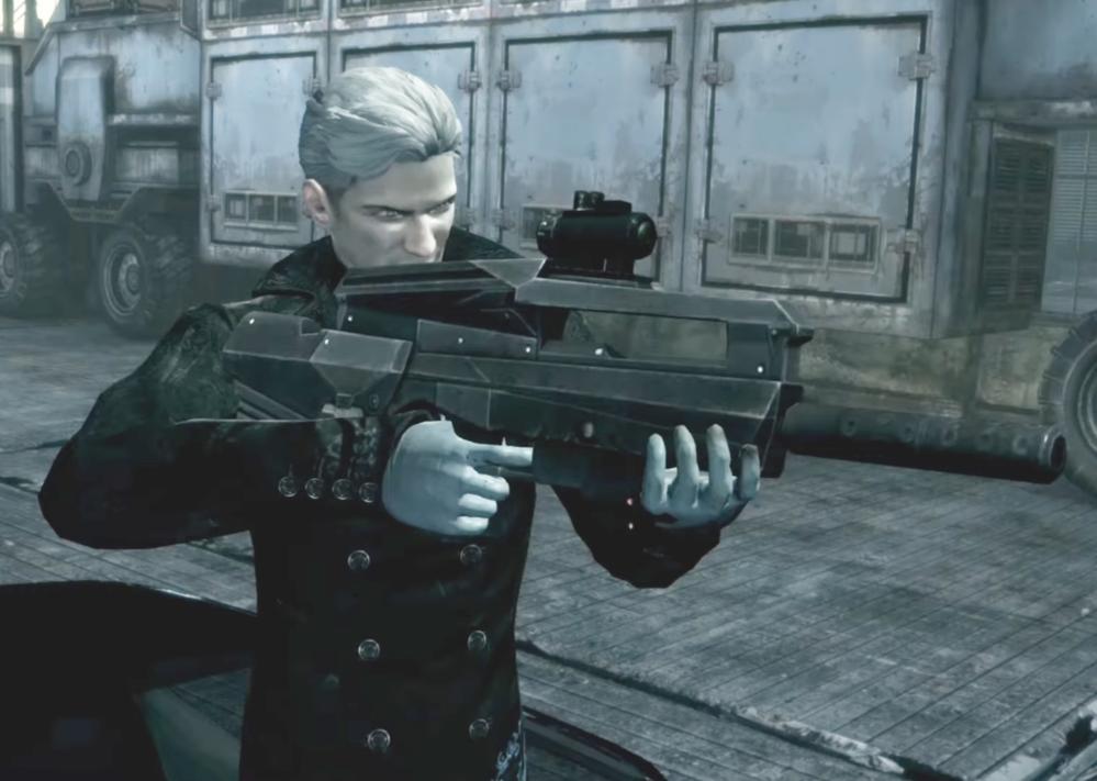 このキャラクターが持ってる銃のモデルはなんだと思いますか?何が一番近いですかね?