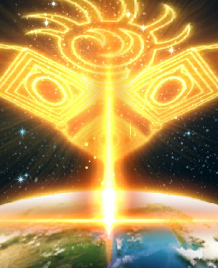 ドラクエウォークの創世の光のエフェクトの時に出てきたこの模様はなんですか?