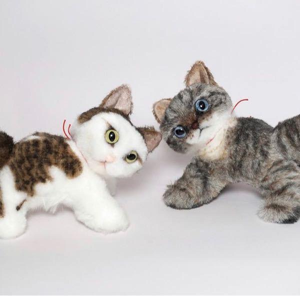 うちの子の猫のぬいぐるみを作りたいのですが、このような模様はどうやって作るのでしょうか?