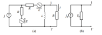 電気回路の院試問題なんですが答えがないので正解が分かりません。 分かる方、解答・解説をお願いいたします。 図 3 の回路について,以下の問いに答えよ.ただし,電源の角周波数を ω とする. (1) 図3(b)が図3(a)の端子対1- 1' の左側の 2 端子回路と等 価なとき,電流源 J0 とアド ミタンス Y0 を求めよ. (2) 図 3(a) の電流 I を求めよ.