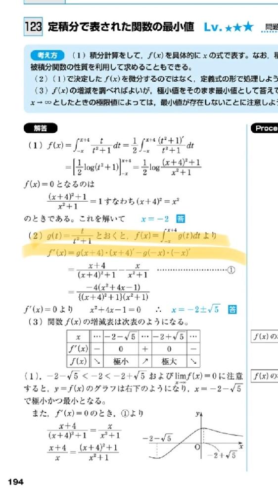 数Ⅲ積分です。 ここの計算どうやってるか教えて欲しいです。