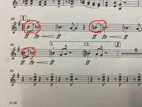sing sing singのホルンの楽譜です。この音符の代わりに×が書いてある所はどのように演奏したら良いのでしょうか。ご存知の方がいらっしゃいましたらご回答よろしくお願いします!