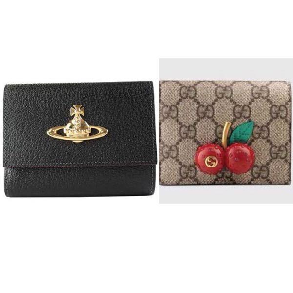 こんばんは! 近々新しいお財布を買おうと思っているんですけど 写真左のヴィヴィアンの財布か右のGUCCIのお財布を買おうか迷っています。 最初はヴィヴィアンのお財布を買おうと決めていたのですが...