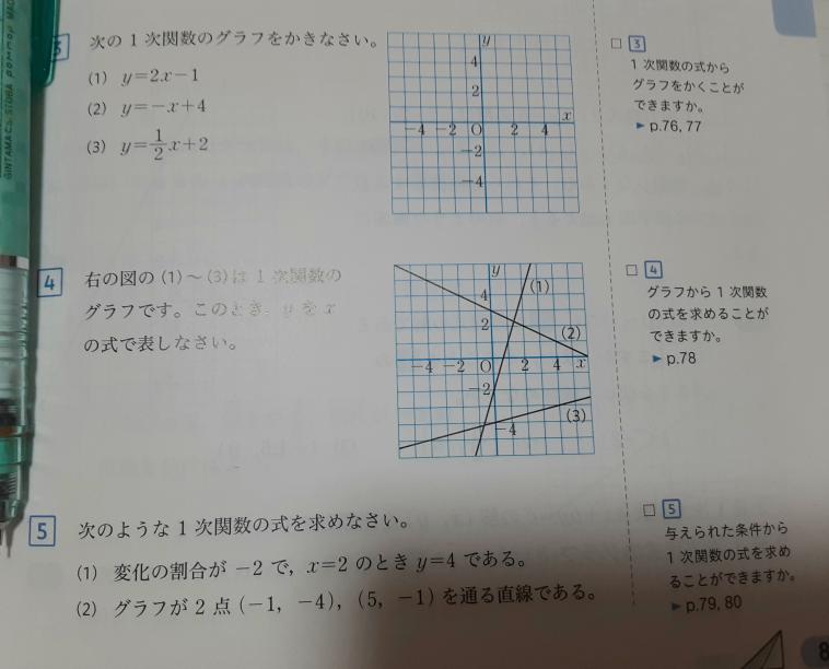 リモート授業の宿題でこの画像のような復習問題が出てしまったのですが、分かりません。この画像の全ての問題の解き方を教えてください